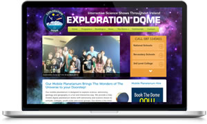 Link to Exploration Dome mobile planetarium Ireland website