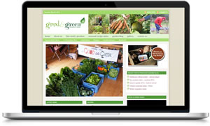 Link to Good and Green veg box Ireland website